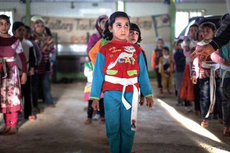 El Taekwondo de la resistencia. El poder del deporte. refugiados auxmagazine