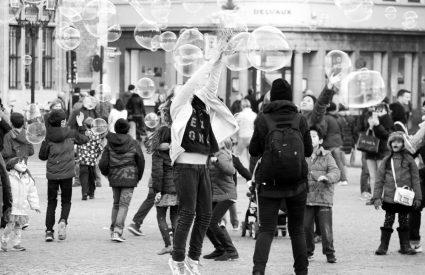 Bubbles street photography